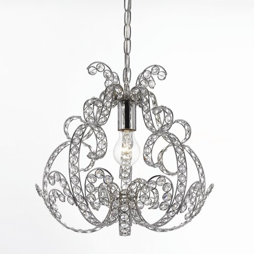 AF Lighting Elements Splendor 1 Light Foyer Pendant