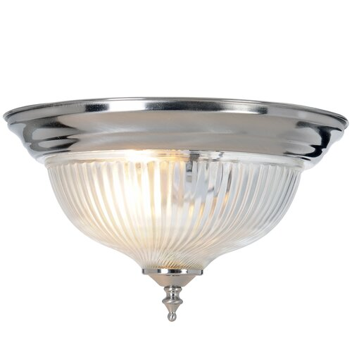 AF Lighting Halophane 1 Light Flush Mount