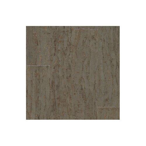 """US Floors Almada Tira 4-1/8"""" Engineered Locking Cork Flooring in Cinza"""