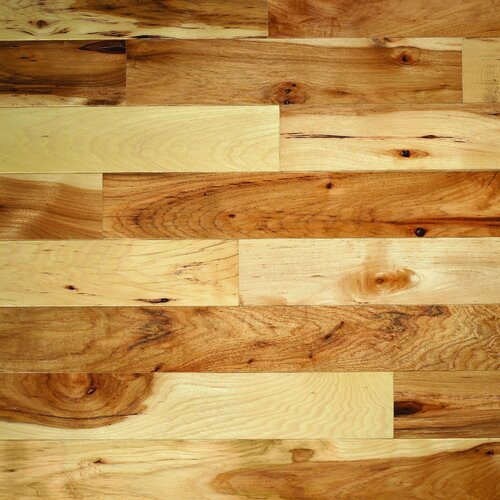 """Columbia Flooring Monroe Hickory 3-1/4"""" Solid Hickory Flooring in Natural"""