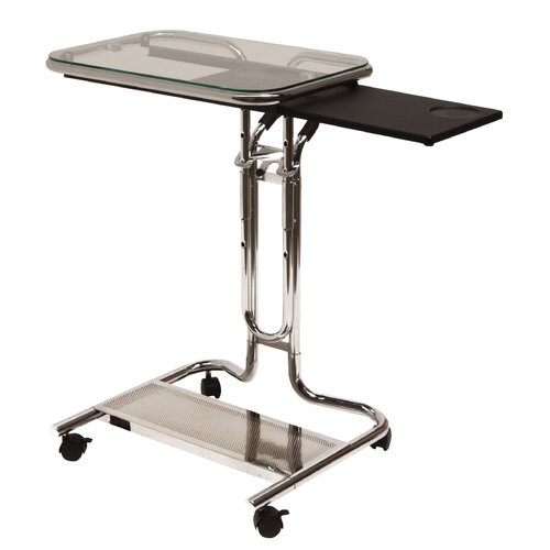 Studio Designs Adjustable Laptop Cart with Mouse Pad