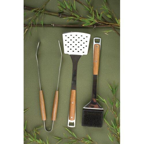 Charcoal Companion Pacific Bamboo 3 Piece BBQ Tool