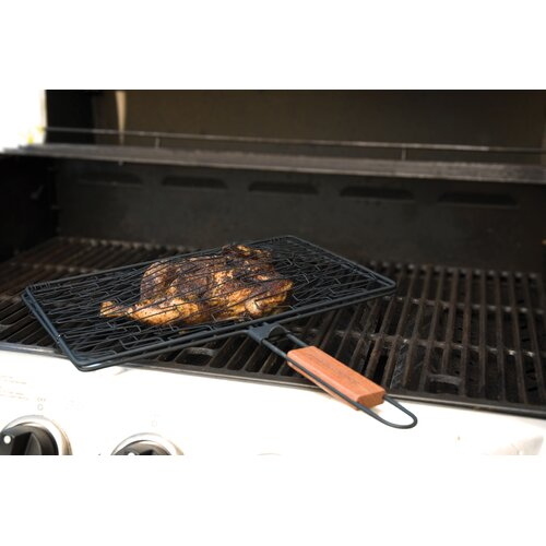 Charcoal Companion Non-Stick Rectangle Flexi Grilling Basket