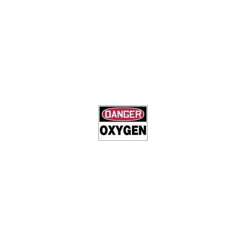 "Accuform Manufacturing Inc X 10"" Red, Black And White Adhesive Vinyl Value™ Chemical Identification Sign Danger Oxygen"