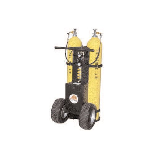 Air Systems (International) 2-Bottle Air Cart 2400psi W/2-Outlet Manifold CGA-346 Wrench-Tight Nuts W/Out Cylinders Must Specify Fittings When Ordering