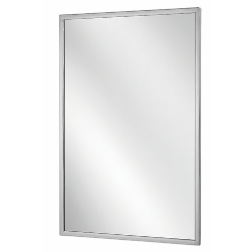 Bradley Corporation Angle Frame Wall Mirror