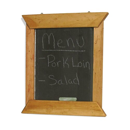 J.K. Adams Hanging Slate Menu Board in Teak Oil