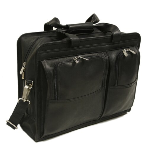 Piel Leather Entrepeneur Professional Portfolio Laptop Briefcase