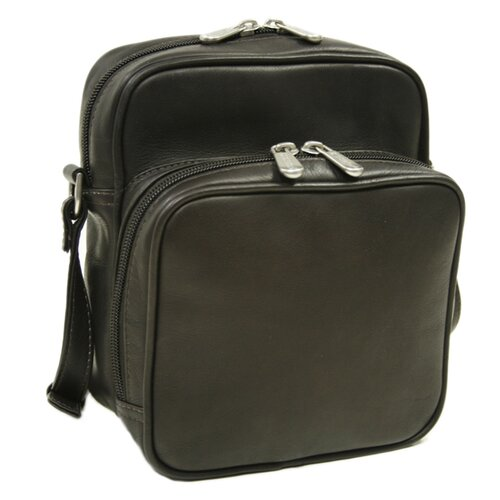 Piel Leather Traveler Small Carry-All Shoulder Bag