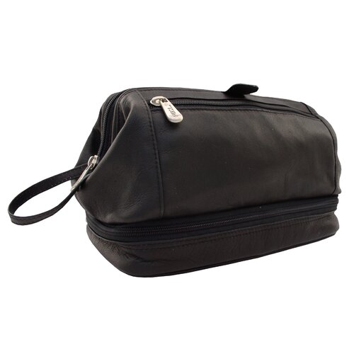 "Piel Leather Traveler ""U""-Frame Travel Kit with Zip Bottom"