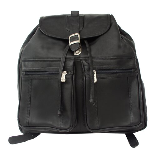 Piel Leather Drawstring Backpack
