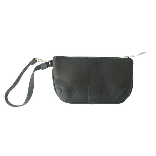 Piel Leather Ladies Wristlet Bag