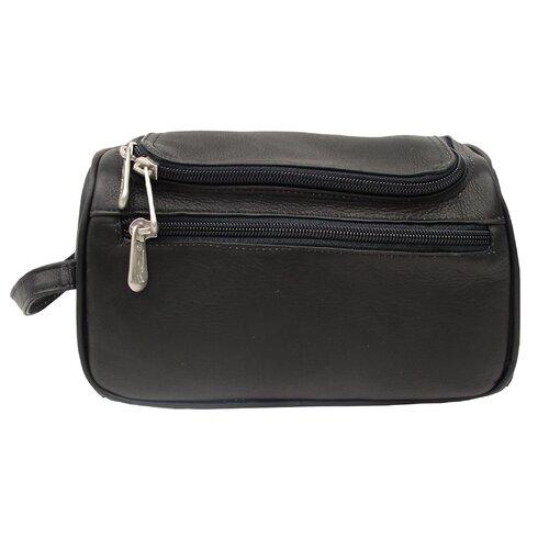 Piel Leather Traveler U-Zip Toiletry Kit