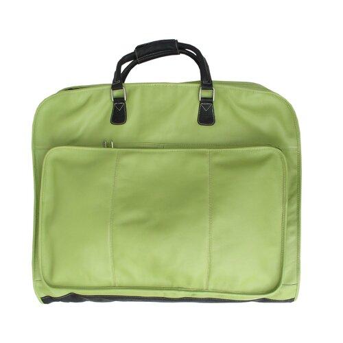 Apple Green Leather Slim Garment Bag