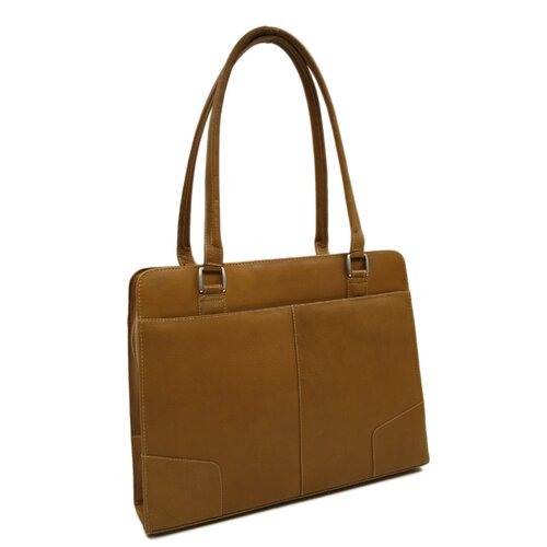 Piel Leather Women's Hard Side Shoulder Tote