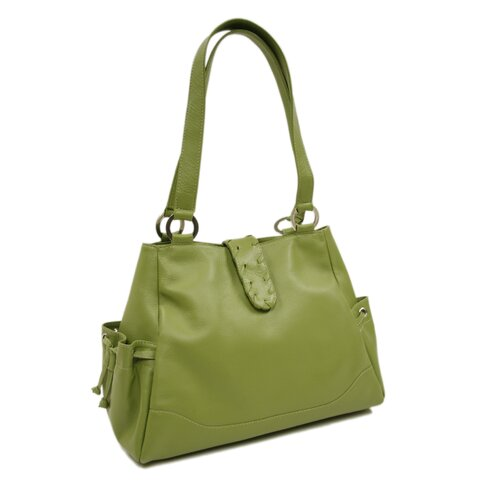 Piel Leather Ladies Pyramid Handbag