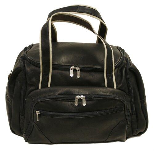 "Piel Leather 20"" Three Pocket Duffel"