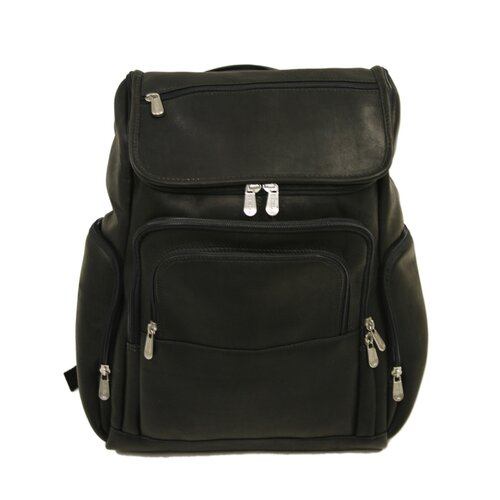 Piel Leather Entrepreneur Multi-Pocket Laptop Backpack