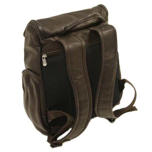 Piel Leather Entrepreneur Multi-Pocket Laptop Backpack in Chocolate