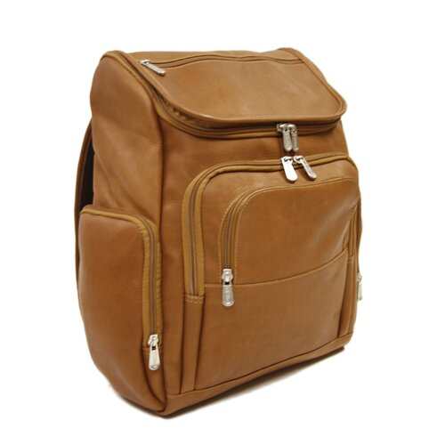 Entrepreneur Multi-Pocket Laptop Backpack in Saddle