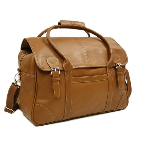 Piel Leather Traveler Flap-Over Carry-On in Saddle