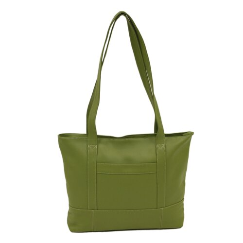 Piel Leather Top Zip Tote Bag