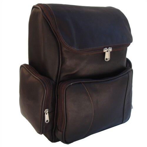 Piel Leather Top Opening Computer Backpack