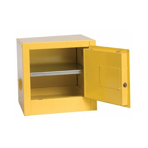 """Eagle Manufacturing Company 17.25"""" H x 17.5"""" W x 18"""" D 2 Gal. Bench Top Flammable Liquid Safety Cabinet"""