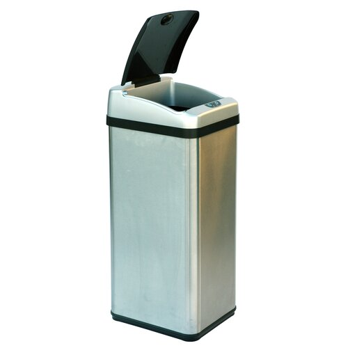 iTouchless 13-Gal. Rectangular Extra-Wide Opening Touchless Trash Can