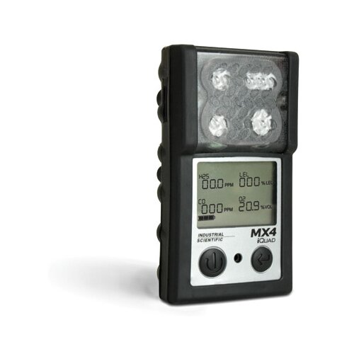Industrial Scientific iQuad™ Portable Gas Detector For LEL, Carbon Monoxide And Oxygen With Lithium-Ion Battery