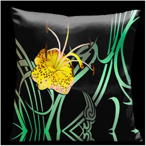 Butterflies and Beauty Square Satin Pillow