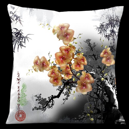 Lama Kasso Exotic Asia Square Satin Pillow