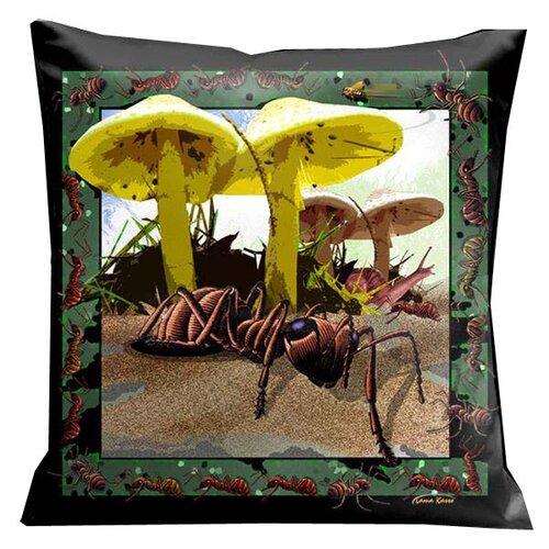 Botanic Fantasy Bugs and Ants Pillow