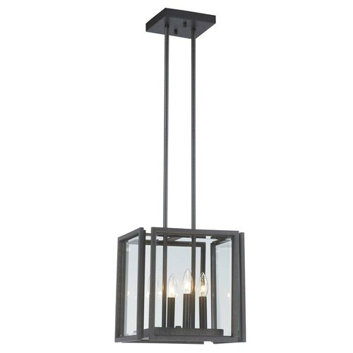 Cubist 4 Light Foyer Pendant