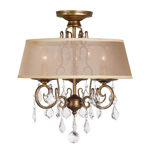 World Imports Belle Marie 3 Light Chandelier