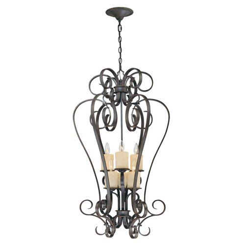 World Imports Stafford Spring 6 Light Foyer Pendant