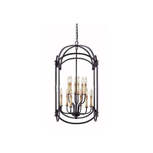 World Imports Iron 12 Light Hanging Lantern