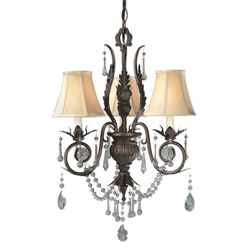 World Imports Berkeley Square 3 Light Chandelier