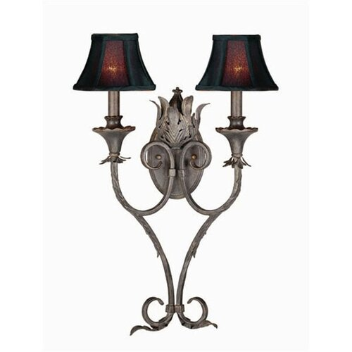 World Imports Sophisticated Iron 2 Light Wall Sconce