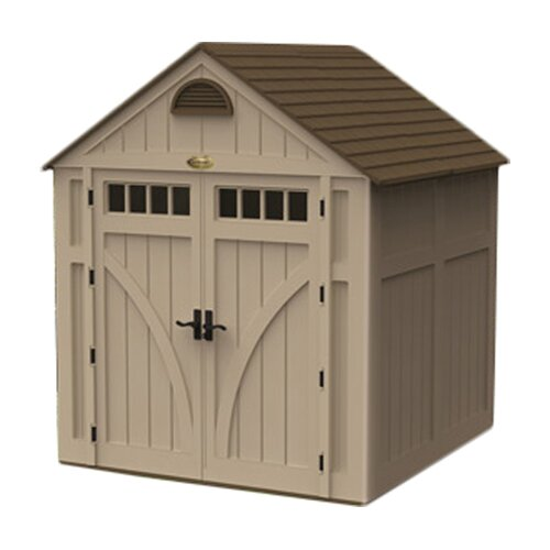 Suncast 7.5 ft. W x 7 ft. D Highland Resin Storage Shed