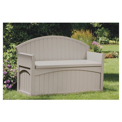 Suncast 50 Gallon Resin Patio Storage Bench