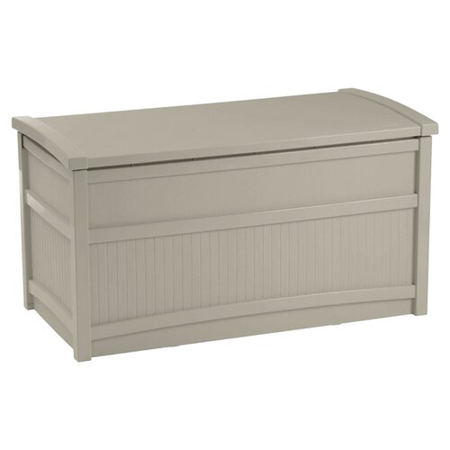 Suncast Resin 50 Gallon Deck Box with Seat