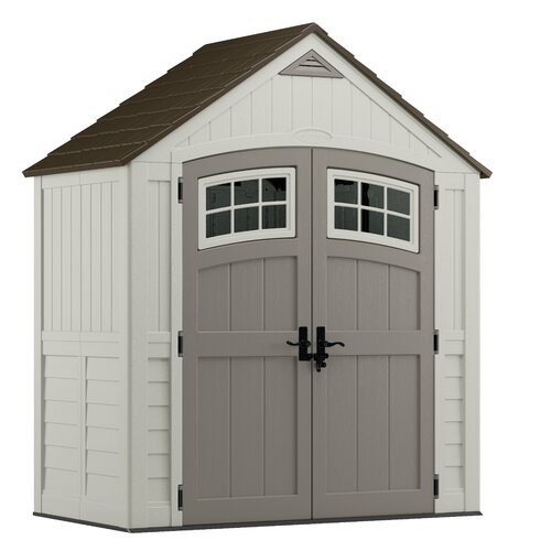 Suncast cascade 7 ft w x 4 ft d resin storage shed for Garden shed 5 x 4