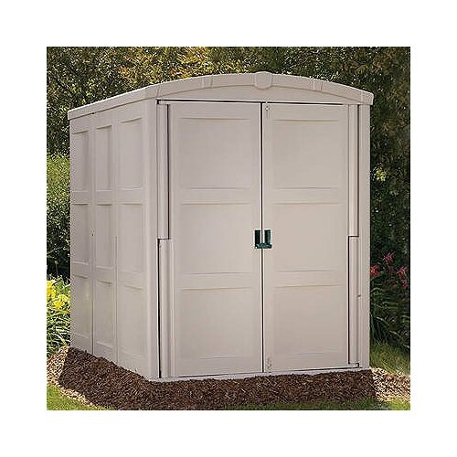 "Suncast 5'5"" W x 7'8"" D Resin Tool Shed"