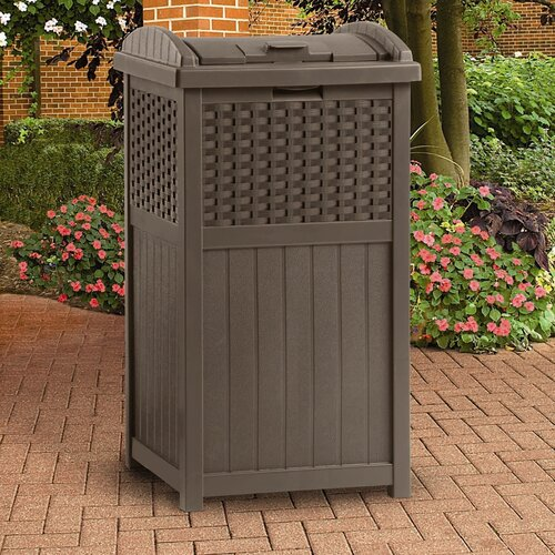 Suncast 33 Gallon  Trash Hideaway Trash Receptacle
