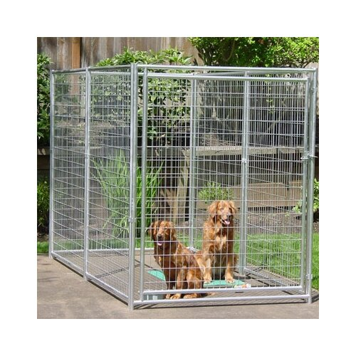 Jewett cameron lucky dog yard kennel gate reviews wayfair for Dog kennel greenhouse