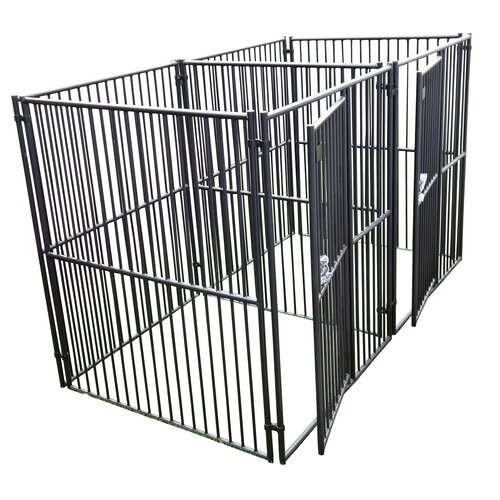 European Style 2 Run Wide Yard Kennel