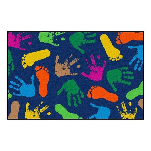 Millenium Mats Kids Hand Prints Kids Rug