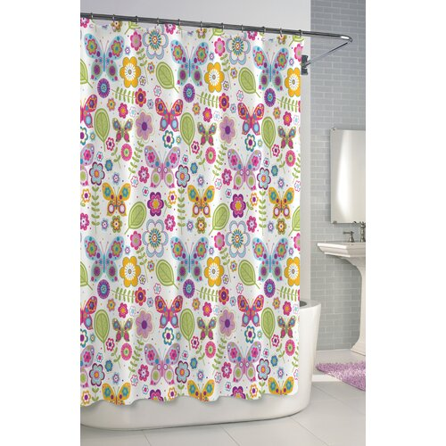 kassatex bambini butterfly cotton shower curtain reviews