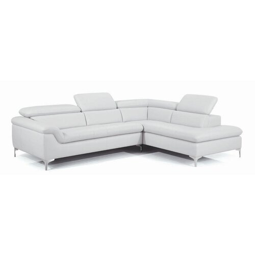 Danco Leather Facing Right Sectional